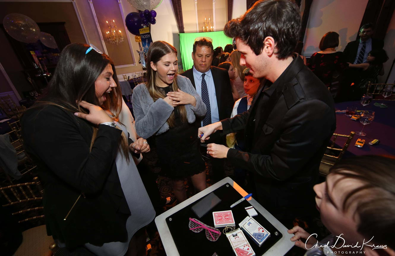 New York city birthday magician communion party kids adults magic show Eric Wilzig Nyc Long Island entertainment