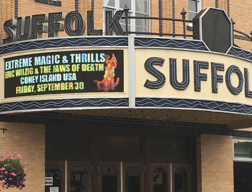 sign performing arts center theater hotels resorts casino magic show illusionist magician Eric Wilzig