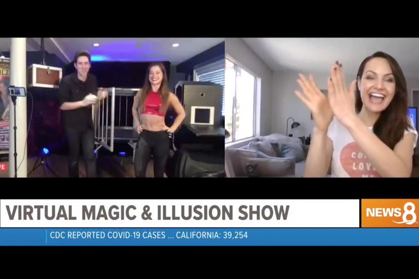 show for virtual events Eric Wilzig magician illusionist mentalist magic show
