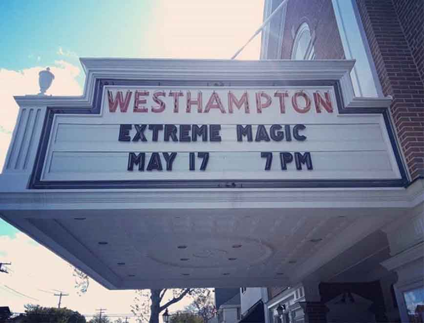 performing arts center theater hotels resorts casino magic show illusionist magician Eric Wilzig Long Island New York