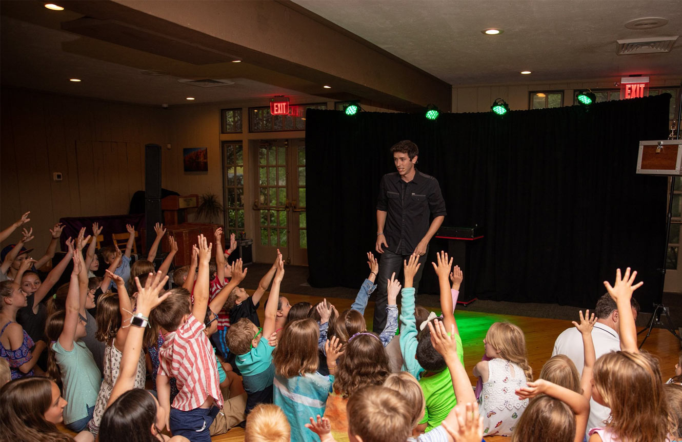 new york school magic show assembly magician elementary middle high pta pto fundraiser Eric Wilzig