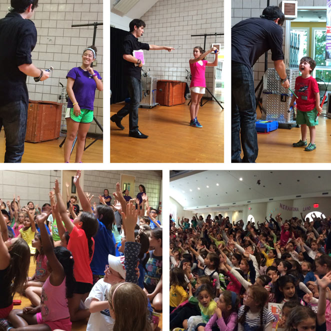 school magic show pta pto family fun night fundraiser assembly magician illusionist Eric Wilzig